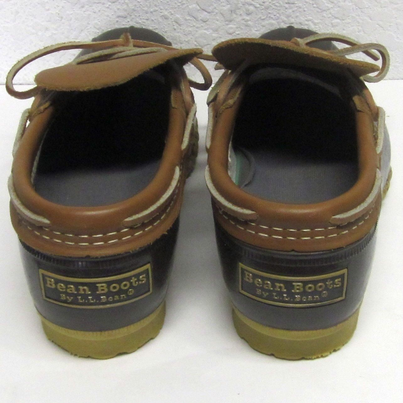 L.L BEAN MAINE HUNTING SHOE WOMEN'S (7 M) LEATHER RUBBER USA SLIP ON WATER PROOF USA RUBBER 601f8b