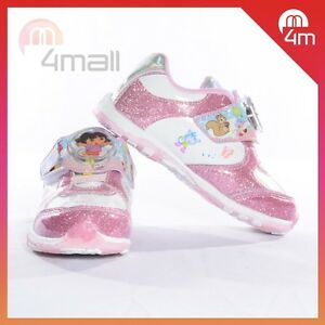 Kids-Girls-Dora-Light-Up-Sneakers-Pumps-Canvas-Footwear-Shoes-Sz-6-7-8-9-10-11