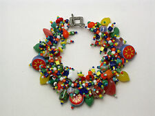 "Bracelet kit ""Fiesta"" Bright & Bold  colorful glass beads. Fringe Magic NEW"