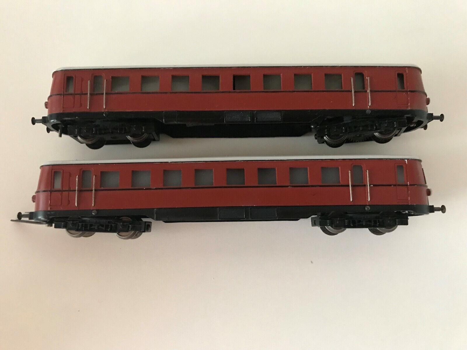 Fleischmann 1371 1b; dieselhydraul. doppeltriebwagen SJ, marrón, Top