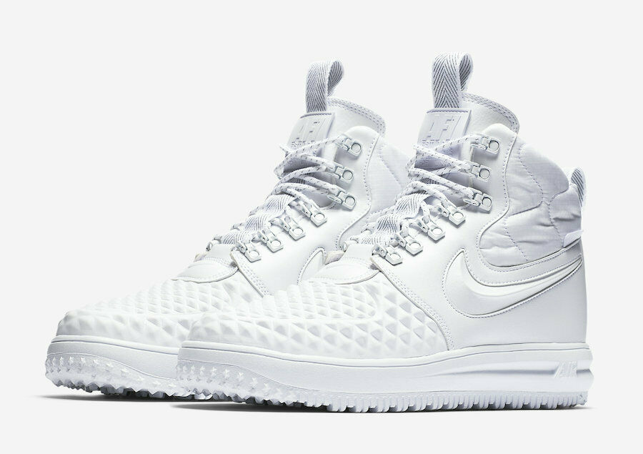 190 NIB NEW Men's Nike AF1 LF1 Lunar Force 1 Duckboot AA1123 100 shoes White