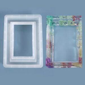 Picture Frame Silicone Mold Resin Casting Epoxy Agate Making Mould Tool Supplies