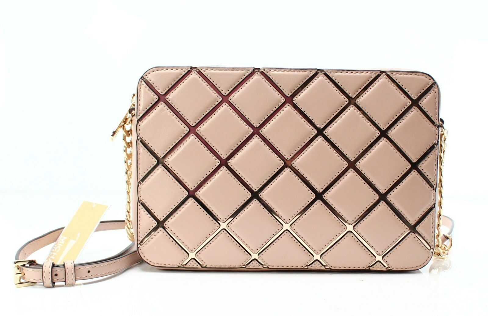3c52cfc15fc5e Authentic Michael Kors Oyster JS Travel Large EW Diamond Quilted ...