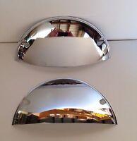 Chrome Plated Steel Headlight Covers 7 Half Moon Shields Pair