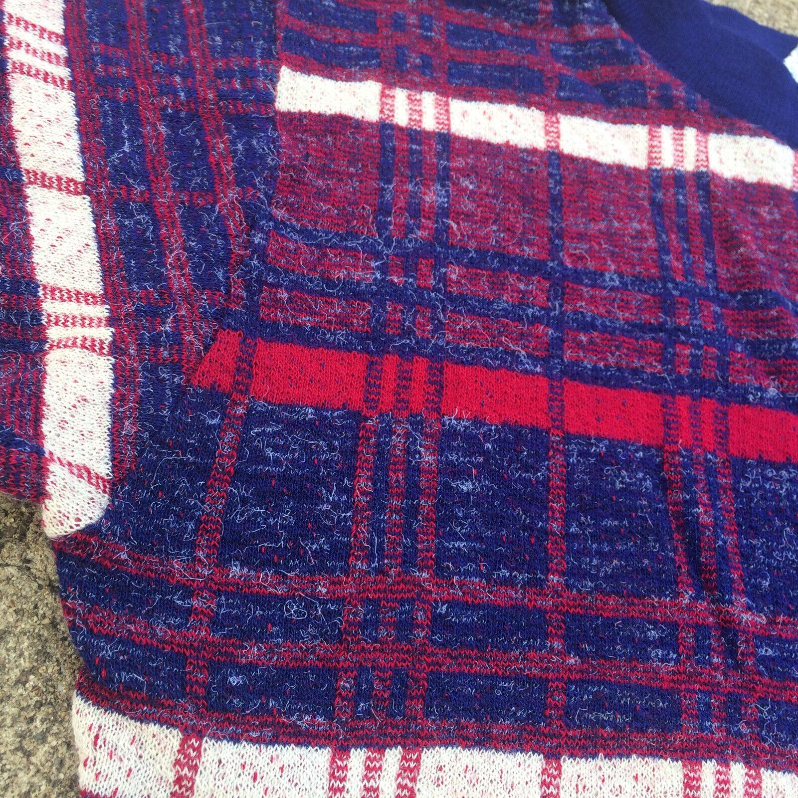 Rare Knit Vintage 1950's 60s Surf Stripe Blank T … - image 5