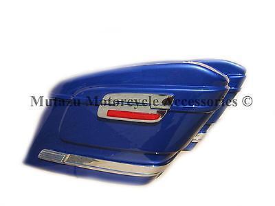 HL COBALT BLUE Hard Saddlebag fits SABRE VTX VALKYRIE SPIRIT MAGNA AERO HONDA