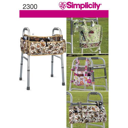 New Simplicity Pattern 2300 Walker Wheelchair Accessories Organizer Bag Caddy