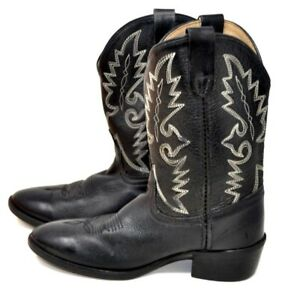 Dan Post Shane Dpc 2001 Black Cowboy Western Boots Sz 5