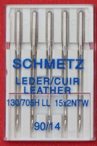 90//14 Schmetz Leather sewing machine needles pkt of 5