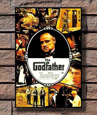 The Godfather 12x18//24x36inch Marlon Brando Movie Silk Poster Art Print