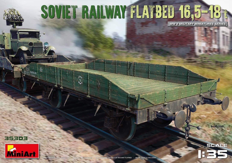 MINIART 35303 35303 35303 WWII Soviet Railway Flatbed 16,5-18t in 1 35  | Neuheit  924c70