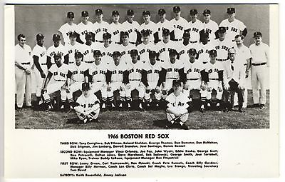 Gutherzig 1966 Rot Sox Team Carl Yastrzemski Echt Foto Postkarte Rppc Postkarte Weitere Ballsportarten