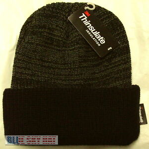 bfbd6798466 Image is loading TOUGH-THINSULATE-INSULATION-40-GRAM-BEANIE-SKI-KNIT-