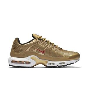 Details about Juniors NIKE AIR MAX PLUS QS Metallic Gold Trainers 903827 700