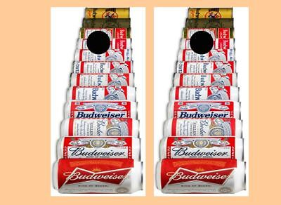 History of Budweiser Beer Cans  Cornhole Board Wraps FREE SQUEEGEE #2442
