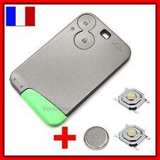 Coque Plip Clé Carte RENAULT Laguna Vel Espace Satis 2 Bouton +Switch +Lame+Pile