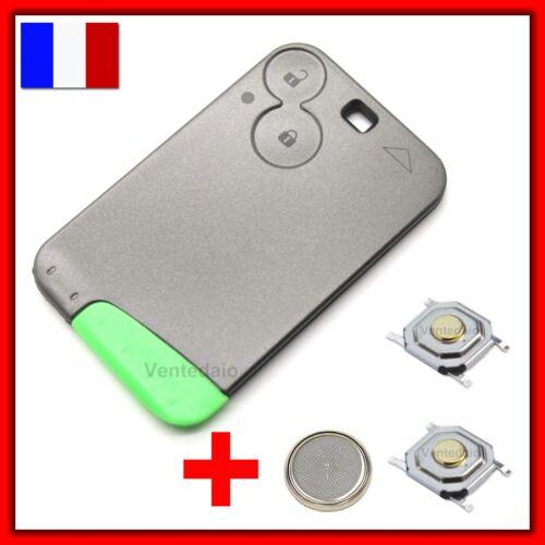 Schalter+ Gehäuse Funkschlüssel Karte Renault Laguna Vel Espace Satis 2 Knopf