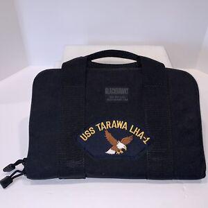 USS TARAWA LHA-1 Blackhawk Pistol Handgun Bag Tactical Black Nylon NEW