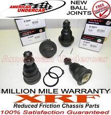 CHEVY GMC 1500HD 4x4 2WD 2 Upper 2 Lower XRF Ball Joint Kit 99-10 K6693 K6696