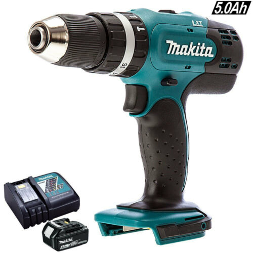 Makita DHP453Z 18V LXT Cordless 13mm Combi Drill With 1 x 5Ah Battery /& Charger