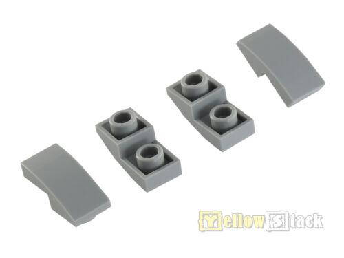 4x LEGO® 24201 Bogenstein 2 x 1 invertiert invers neu-hellgrau NEU slope curved