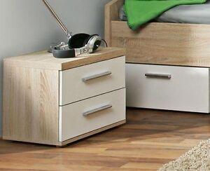 nachtkommode winnie nachtkonsole nachttisch nachtk stchen sonoma eiche wei ebay. Black Bedroom Furniture Sets. Home Design Ideas