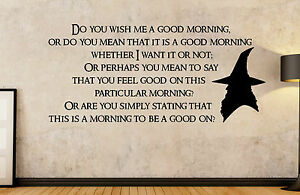 Details Zu The Hobbit Lord Of The Rings Gandalf Good Morning Quote Wall Art Decal