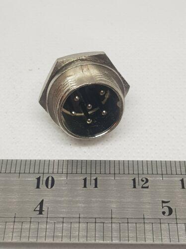 6 Pines Zócalo De Chasis Enchufe de aviación GX16 conector del cable del panel de Metal Reino Unido Publica Gratis