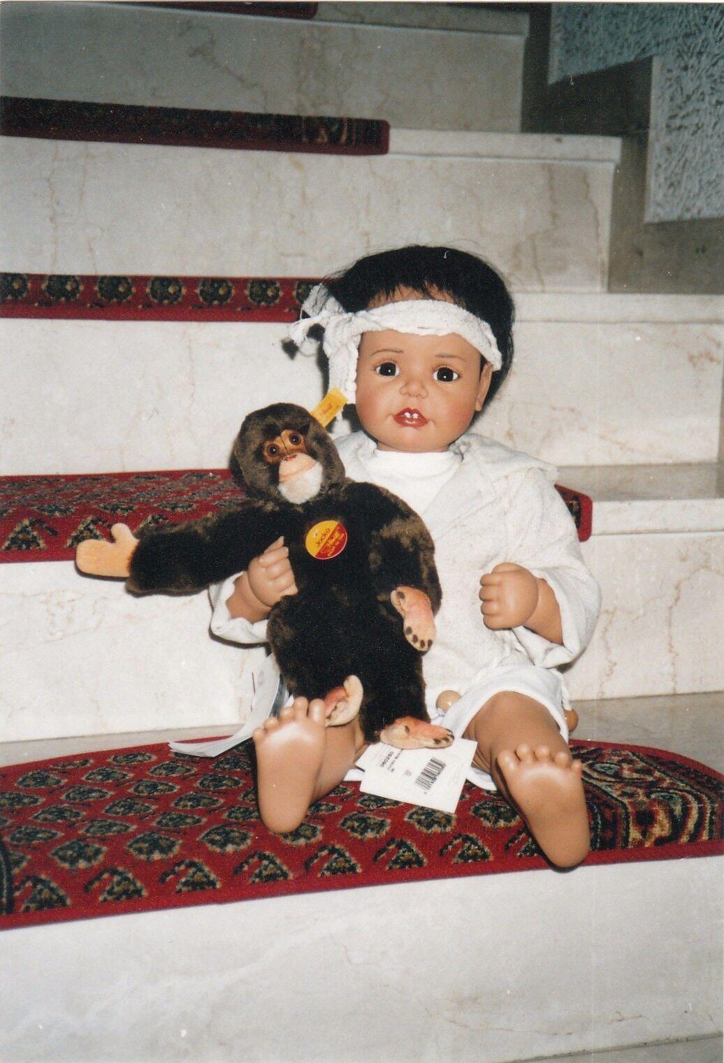 Götz Künstler Puppe Renaldo mit mit mit Steiff Affen von Joke Grobben. 60cm. Unbespielt 869f26