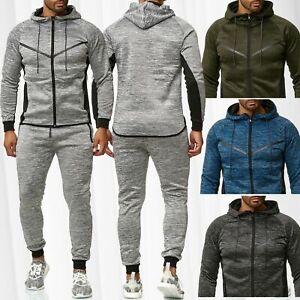 Herren-Jogginganzug-Set-Sweat-Pants-Shirt-Jacke-Jogginghose-Fitnessanzug-Sport