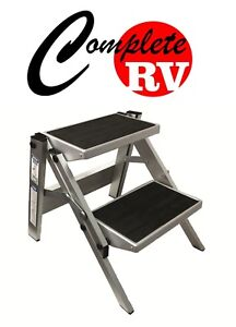Double-Folding-Caravan-Step-Portable-RV-Accessories-Ladder-Camper-Motor-Home