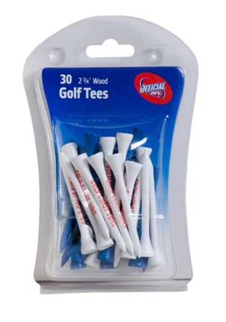 """AFL GOLF TEES - GOLD COAST - 30 x 2.25"""" WOODEN TEES - OFFICIAL AFL PRODUCT"""