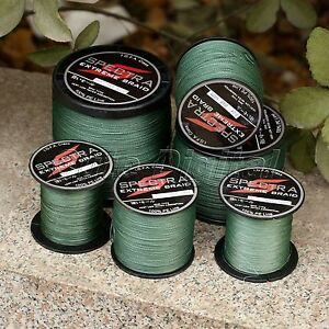 Spectra-Moss-Green-100-1000M-Strong-Dyneema-Extreme-PE-Braided-Sea-Fishing-Line