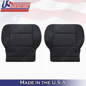 2014 to 2018 Chevy Silverado 1500 Driver Bottom Cloth Seat Cover Ebony Black