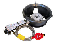 Rambo Safety High Pressure Gas Wok Burner 55mj Hpa100lpb Regulator & Hose