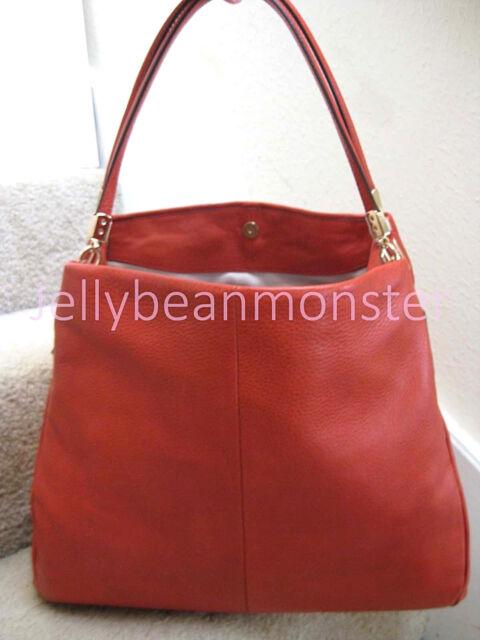 860e559e7cb8 ... spain coach 24621 madison leather phoebe shoulder bag purse vermillion orange  new tag c3f9d 57b4e