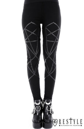 Pentagramma Gotico Donna Leggings Adulto Rocker Restyle Nu Emo Imbracatura Punk IPqPxUdv