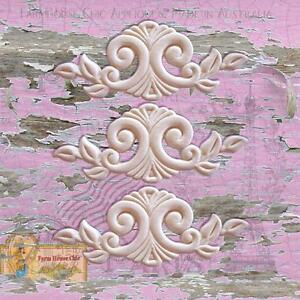 3-x-Shabby-Chic-French-Resin-Furniture-Appliques-Molding-Carving-Decorations