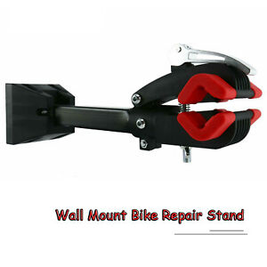 Wall Mount Foldable Bike Bicycle Repair Workstand Maintenance Rack Garage Home