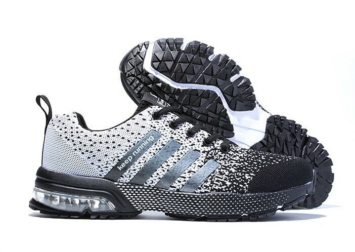 Men Running Shoes Weave Breathable Air Cushion Sneakers Athletic Outdoor Trainer