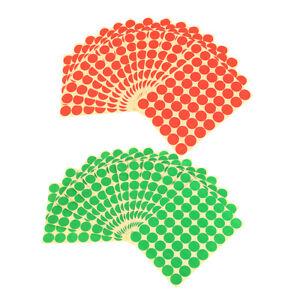 25MM Adhesive Label Sticker Dot Sticker Coding Labels 1440 Pcs Multi-Color