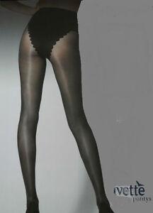 Media-panty-collant-pantyhose-IVETTE-40den-XL-negro-braga-silueta-made-ITALIA