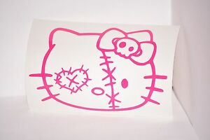 Hello-Kitty-Zombie-Vinyl-Car-Laptop-iPad-Mac-Tablet-Decal-Sticker-Choose-Color