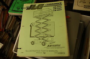 Jlg 600a 600aj articulated boom lift manlift parts manual book.