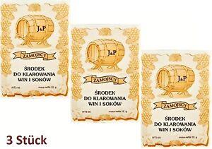Feinschmecker Neue Mode Aktion 3 X Klärungsmittel Auf 25l Für Wein Saft Klärmittel Schönung Hefe