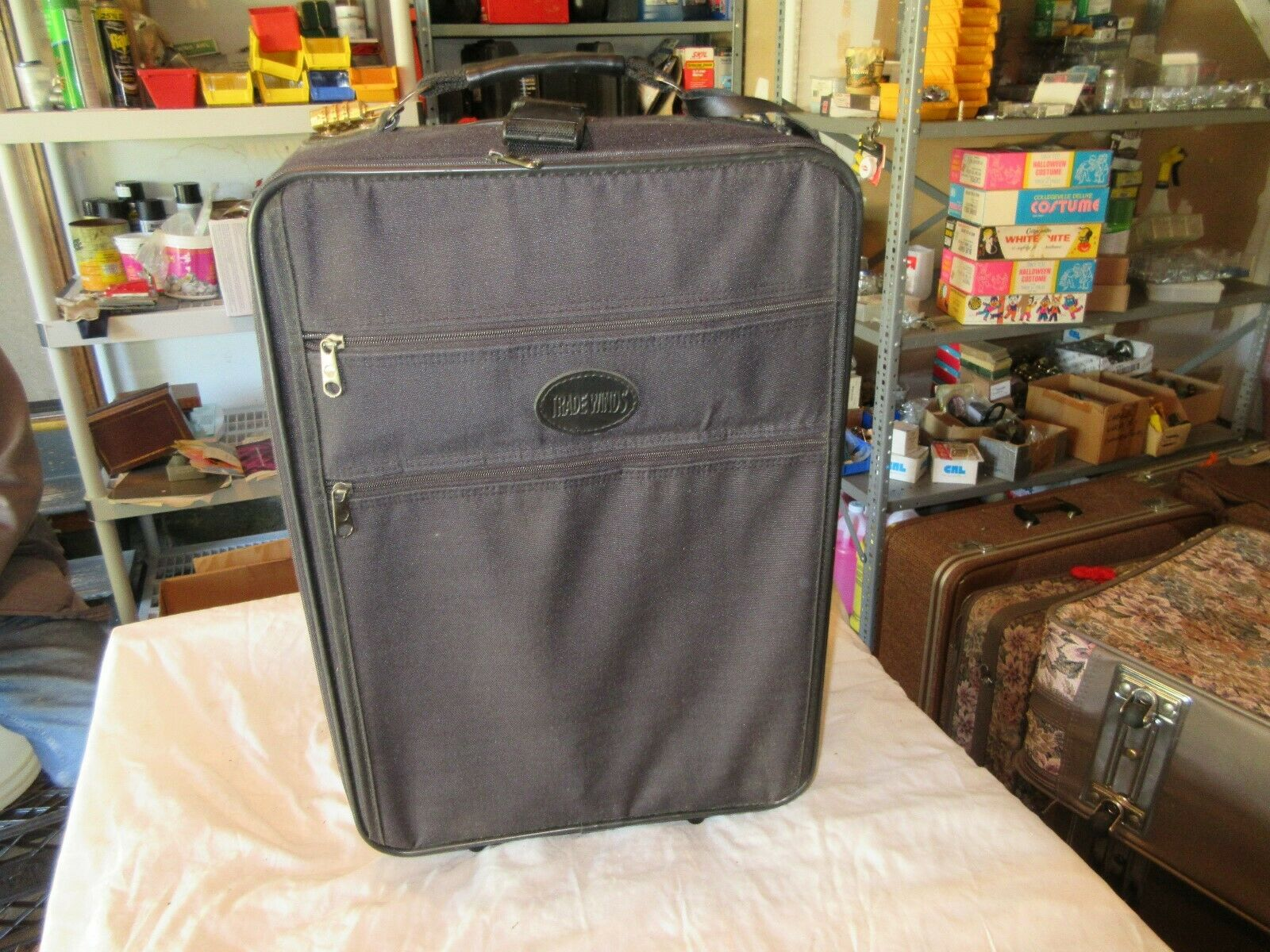 "Tradewinds , Luggage , Wheeler , Vintage , Approx. 14""X"