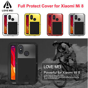 Details about LOVE MEI Protective Case For Xiaomi Mi 8 Mi8 Cover Aluminum  Metal Silicone Frame