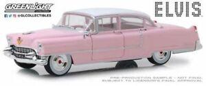 GREENLIGHT-84092-ELVIS-PRESLEY-039-S-1955-PINK-CADILLAC-FLEETWOOD-60-model-car-1-24