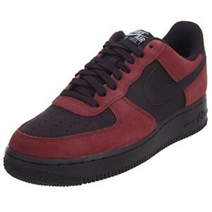 huge discount 57f33 39c66 Details about Nike Mens Air Force 1 '07 Low Port/White/Black/Port Wine  Basketball Shoe