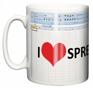Dirty-Fingers-Mug-034-I-Love-Heart-Spreadsheets-034-Computer-Geek-Secret-Santa-Gift